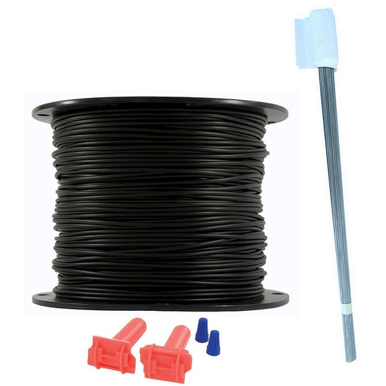 Essential Pet Heavy Duty In-Ground Fence Wire and Flag Kit 500 Feet