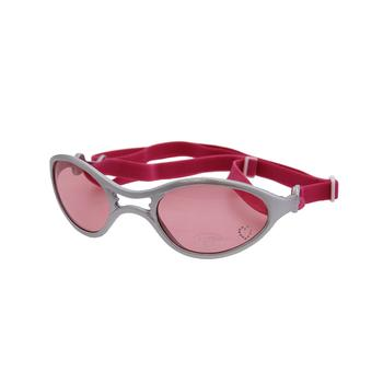 Doggles - K9 Optix Rubber Sunglasses for Dogs - Silver with Pink Lens