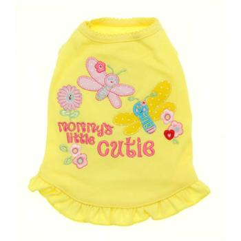 Mommy's Little Cutie Embroidered Dress - Yellow