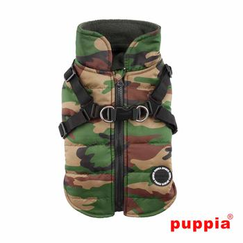 Mountaineer Harness Dog Coat by Puppia - Camo
