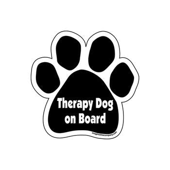 Paw Magnet - Therapy Dog on Board