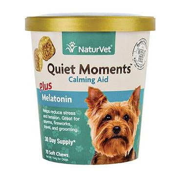 Quiet Moments Calming Aid with Melatonin Soft Dog Chews by NaturVet