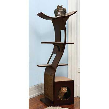 Refined Feline Lotus Cat Tower