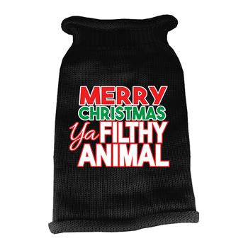 Ya Filthy Animal Dog Sweater - Black