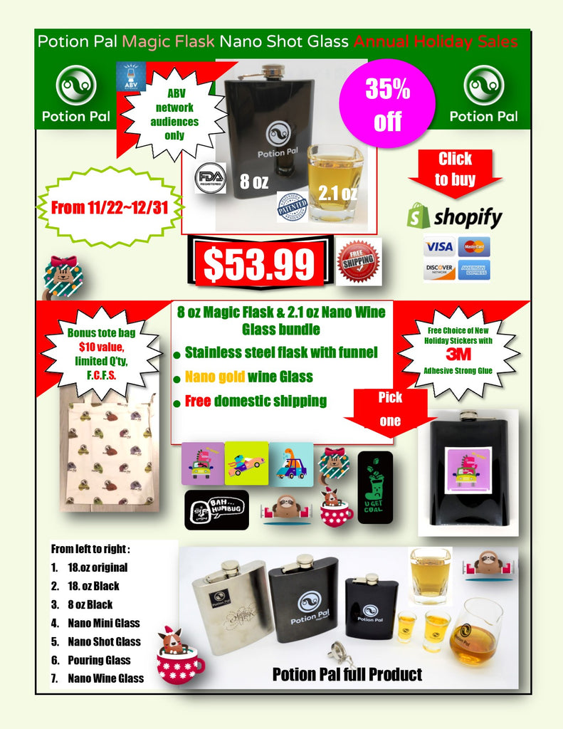 ABV Network Audiences only (Potion Pal Annual Holiday Sales, Start from 11/22~12/31)