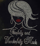 Fearfully and wonderfully made T-Shirt-(Red)
