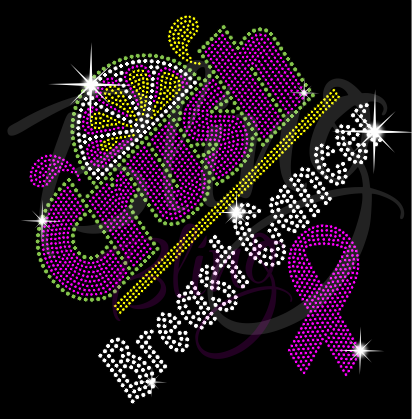 Crush Breast Cancer Rhinestone Tee