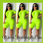 Brandy Shorts Set -(Lime Green)