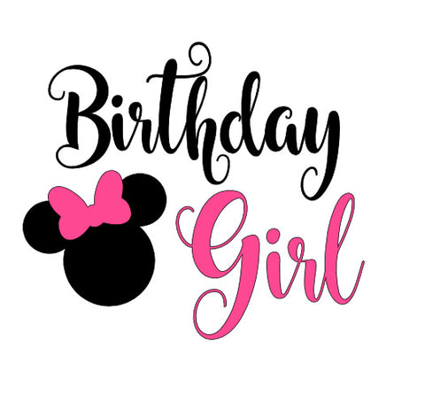 Minnie Birthday Girl Kid Tee