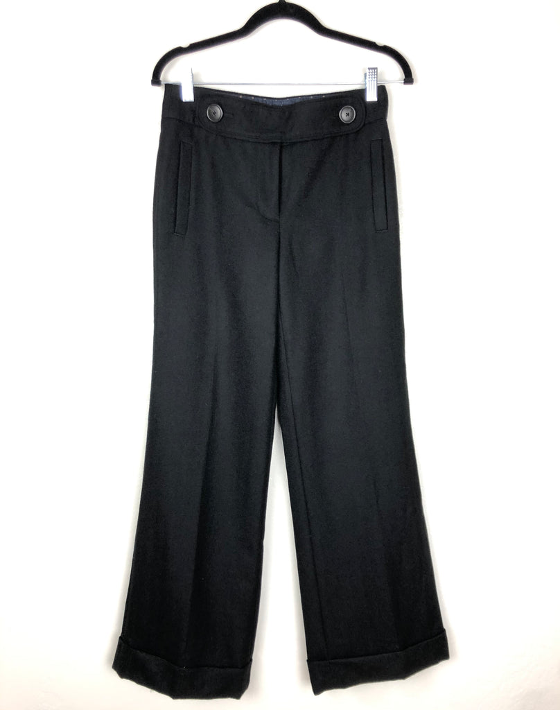 J.Crew black wide leg wool trousers