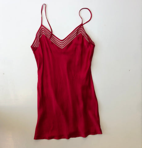 Victoria Secret red silk negligee