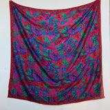 Liz Claiborne pink and red floral silk scarf