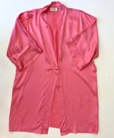 Victoria Secret pink silk short sleeve robe