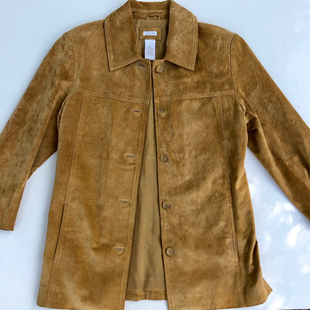 Cherokee suede tan leather jacket