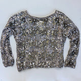 Sequined starburst blouse on silk