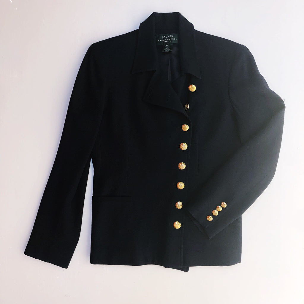 Ralph Lauren wool blazer with gold buttons