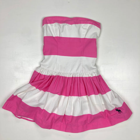 Abercrombie and Fitch pink and white striped party dress
