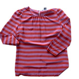 Purple and copper striped blouse