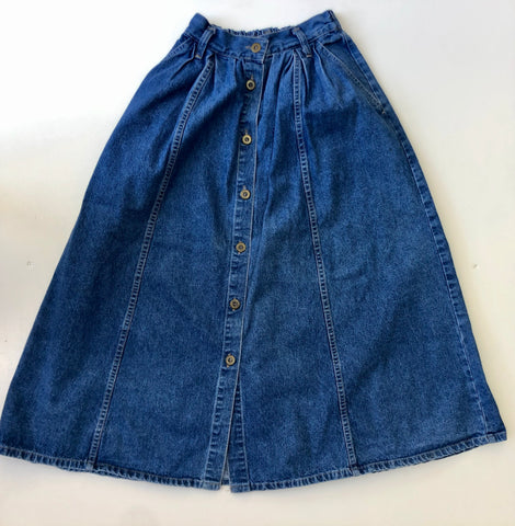 Jean skirt full length