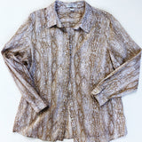 Snakeskin print cotton blouse