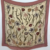 Laura Ashley floral nomenclature silk scarf