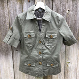 Kenneth Cole Reaction army green short sleeve jacket