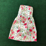 Strapless floral print cotton party dress
