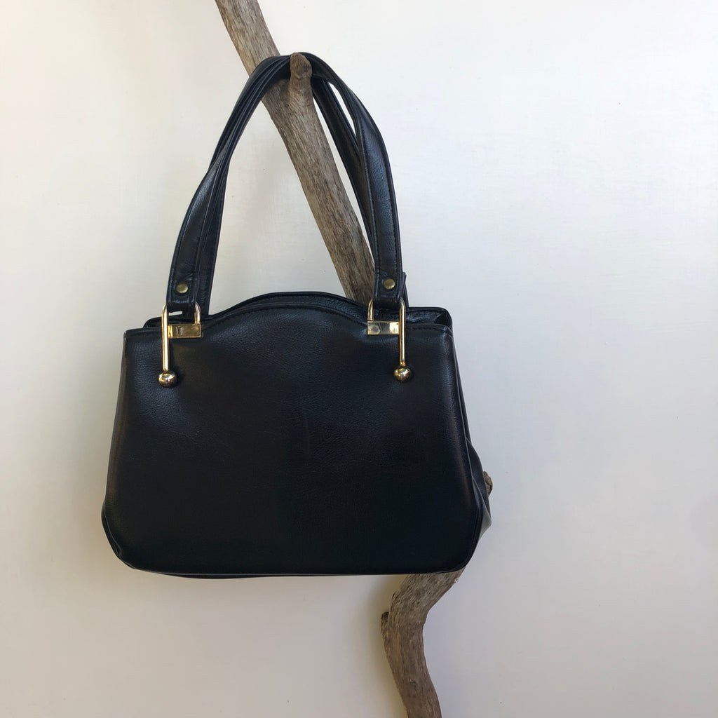 Vintage navy blue handbag