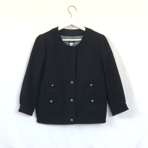 J.Crew black wool blazer with mid sleeves