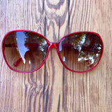 Red oval shaped retro shades