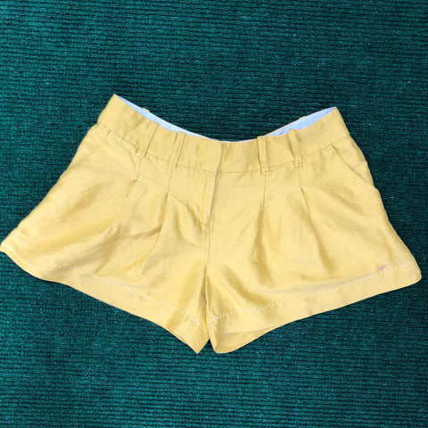 Silk mustard yellow shorts