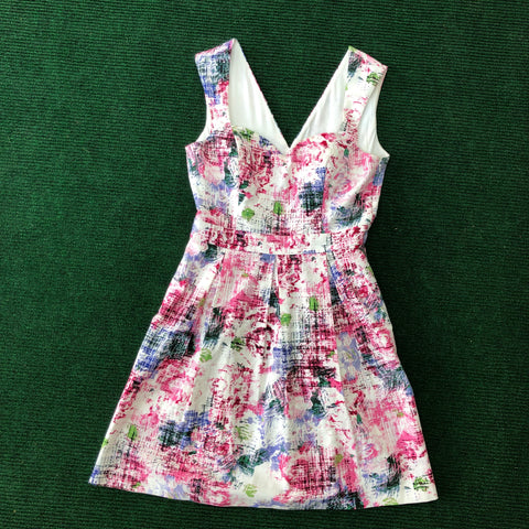 Guess rose print party dress