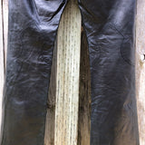 Theory black leather pants