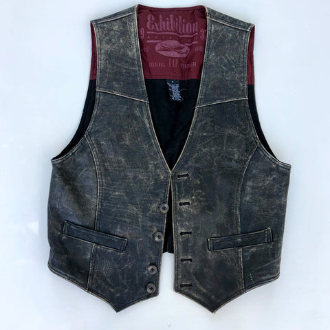 Gap leather vest men's cut