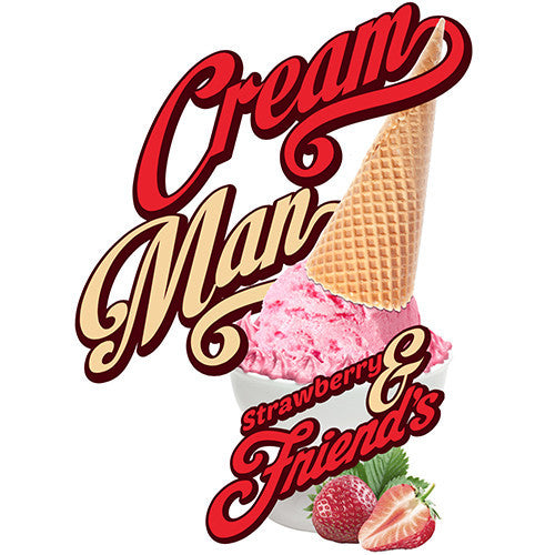 Cream Man E-Juice - Strawberry and Friends-eJuice-Cream Man-30ml-0mg-eJuices.com