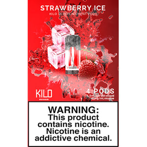 Kilo eLiquids 1K Vaporizer Device - Refill Pod - Strawberry ICE (4 Pack)