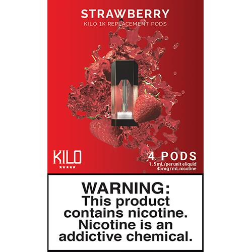 Kilo eLiquids 1K Vaporizer Device - Refill Pod - Strawberry (4 Pack)
