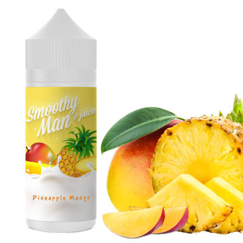 Smoothy Man E-Juice - Pineapple Mango-eJuice-Smoothy Man Ejuice-120ml-0mg-eJuices.com