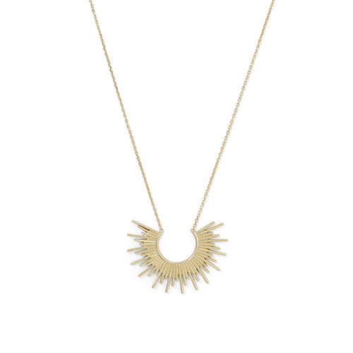 14 Karat Gold Plated Sunburst Necklace at 3 Barn Swallows, $95