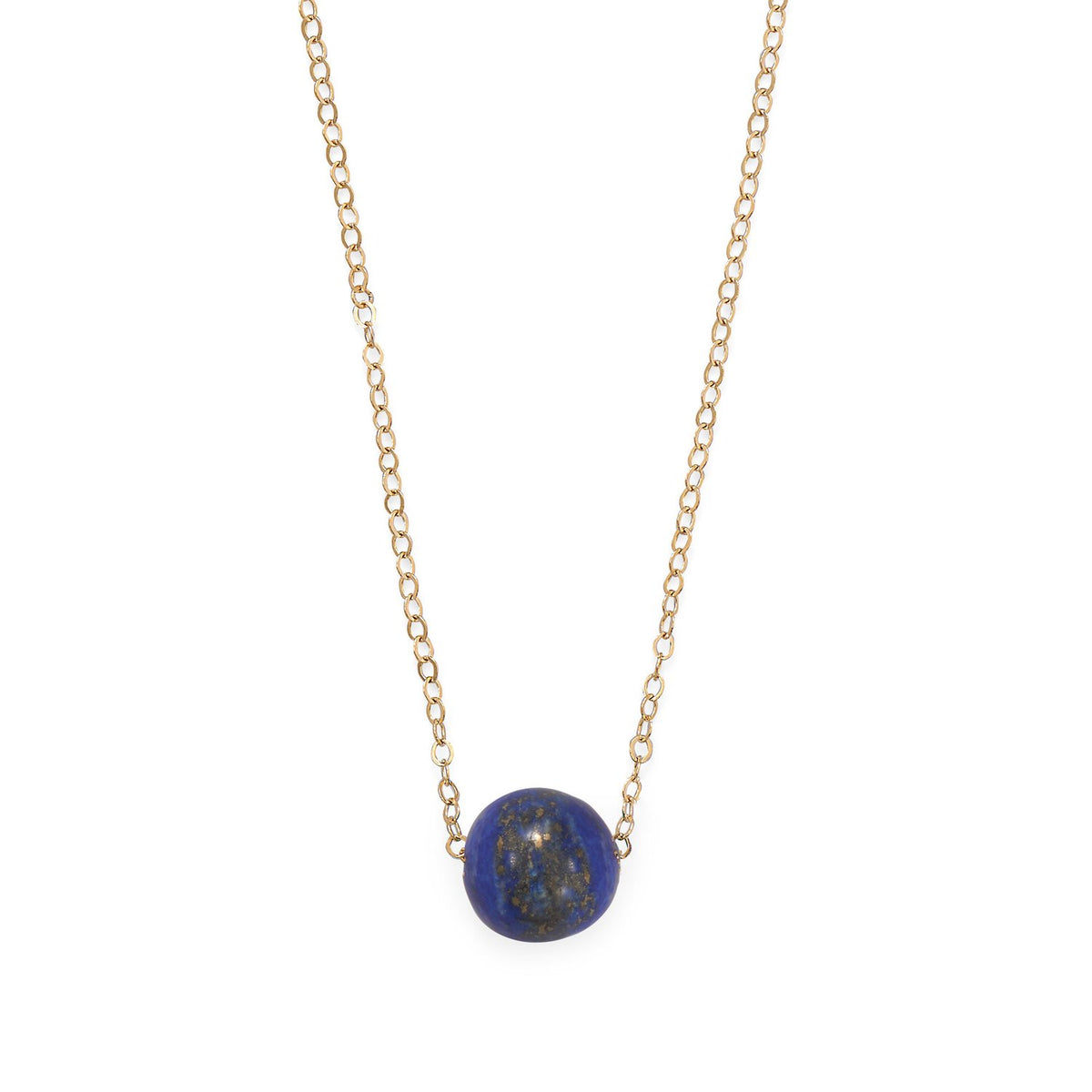 "16"" + 2"" Gold Filled Lapis Necklace"