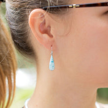 Pear Shape Larimar Earrings at 3 Barn Swallows, $174