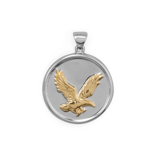 Two Tone Eagle Pendant at 3 Barn Swallows, $69