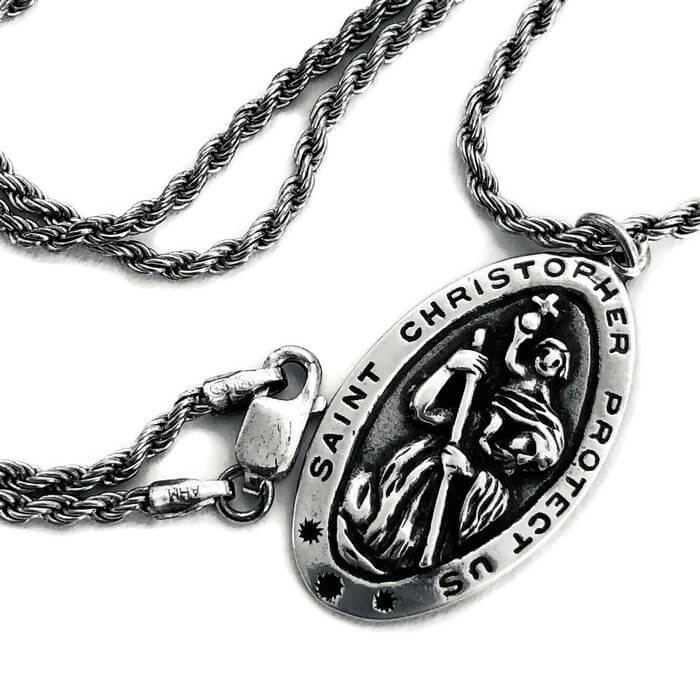 St Christopher Sterling Silver Necklace