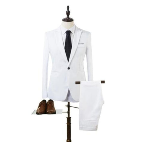 Solid High Quality Luxury Men's Tuxedo Suits - MASS Wholesalers