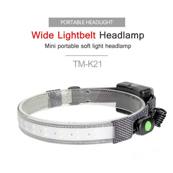 350 LM Portable Outdoor Fishing Headlamp Light And Soft Riding Headband Lamp Waterproof Emergency Flashlight - MASS Wholesalers