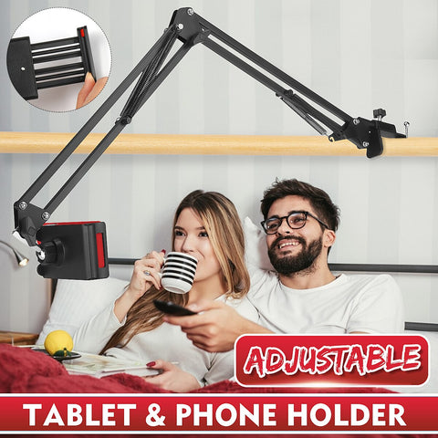 360 Rotating Flexible Long Arm Tablet Mobile Phone Holder Lazy Bracket Stand Metal Clamp Support - MASS Wholesalers