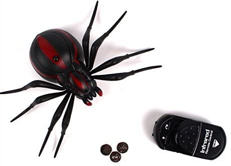 Bhbuy Remote Control Realistic Fake Spider RC Prank Toys Insects Joke Scary Trick/ Spider - MASS Wholesalers