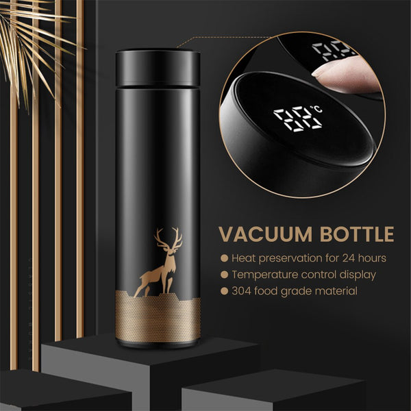500ML Smart Insulated Stainless Steel Vacuum Cup Thermos With Digital Temperature Display - MASS Wholesalers