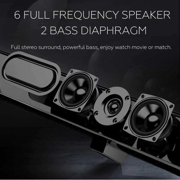 50W 40 Inch HiFi Detachable Wireless Bluetooth Soundbar Speaker 3D Surround Stereo Subwoofer for TV Home Theatre System Sound Bar - MASS Wholesalers