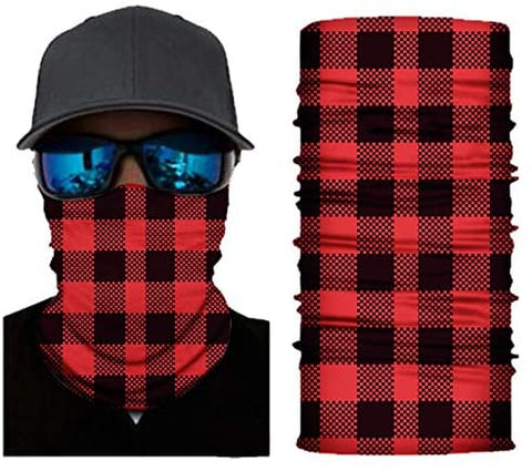 Seamless Face Cover Mouth Mask Bandana Neck Gaiter Cool Lightweight Red - MASS Wholesalers